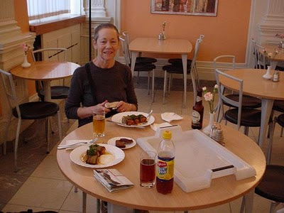 Eating at Leima, St Petersburg - travels with my mother