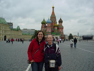 Red Square with Mum - travels with my mother