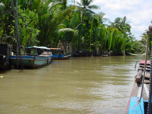 Boat trip on the Mekong Delta in Vietnam