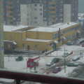 Communist era flats in Bratislava in Winter