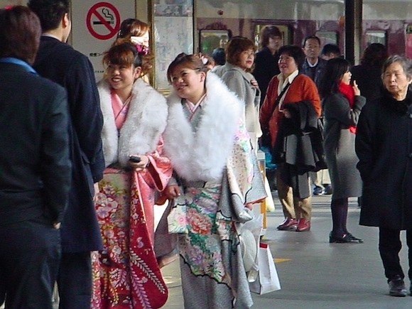 Coming of Age Day kimonos in Japan