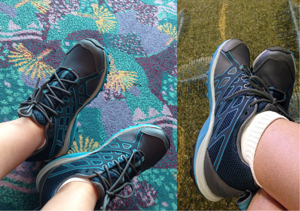 North-Face-review-shoes-Singapore-airport-carpet