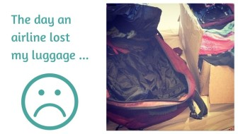 Am I sad that an airline lost my luggage? Hell yes!