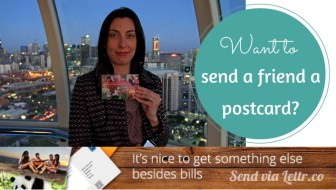 Sending postcards with Lettr and keeping in touch with travel friends