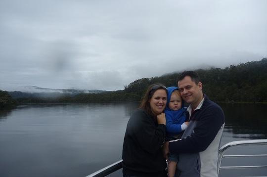 Gordon River Cruise out of Strahan, Tasmania, with a toddler