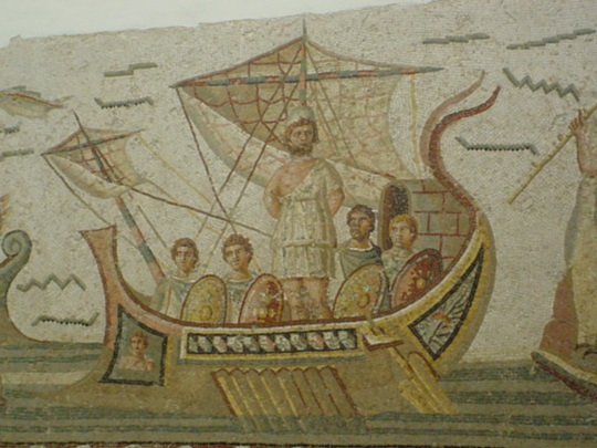 Bardo Museum mosaics in Tunis, Tunisia