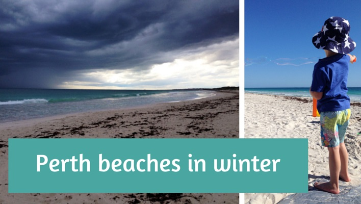 Perth beaches in winter feature