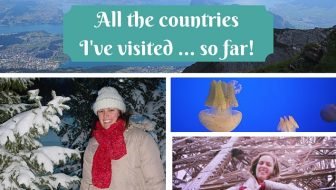 All the countries I've visited so far - Amanda Kendle of Not A Ballerina