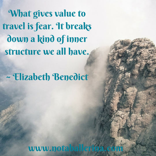 Travel Quote Elizabeth Benedict