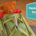 Our packing list for Bali, and Jack the bear shows off our new Paklite luggage