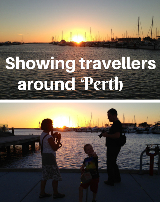 Showing travellers around Perth