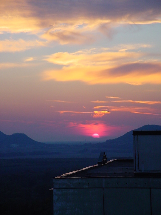 Sunset view from Bratislava flat - Learn from homes abroad in Slovakia