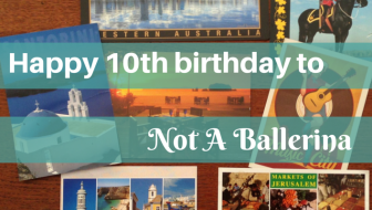 Happy 10th birthday to Not A Ballerina! It's my blog anniversary!