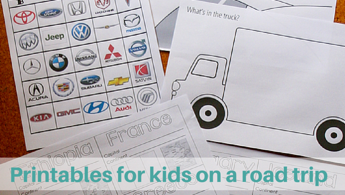 The Colossal List Of Printables For Kids On A Road Trip