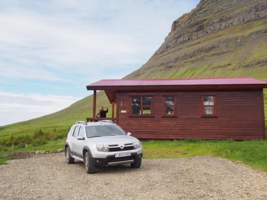 Cabin on Kirkjufell near Grundarfjordur in Iceland