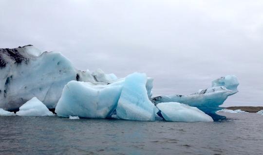 Glacier fragments at Jokulsarlon in Iceland