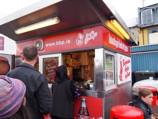Famous Icelandic hot dog stand in Reykjavik