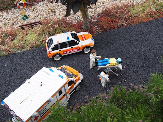 Legoland Germany - Miniland ambulance and stretcher