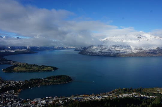 View from the gondola over Queenstown, New Zealand - Itinerary for the South Island