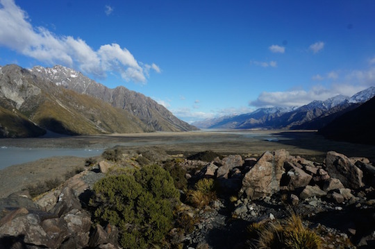 Views around Mt Cook, New Zealand - South Island itinerary with kids in a campervan