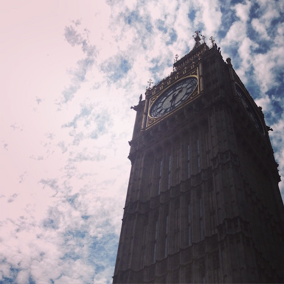 Big Ben in London - A jet-lagged London layover with kids