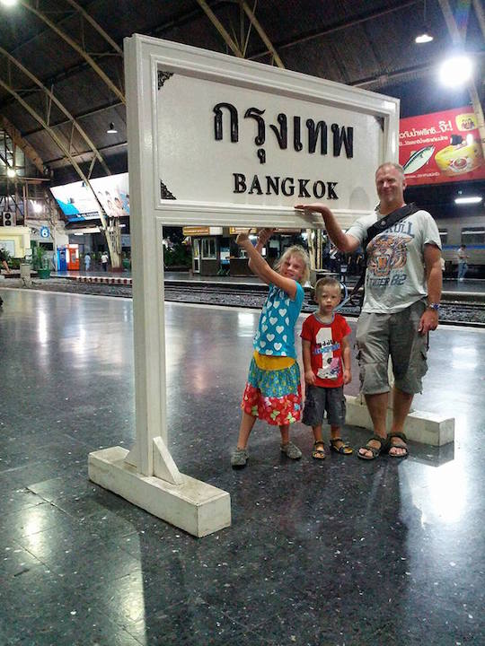 Moving to Bangkok with kids - at the station