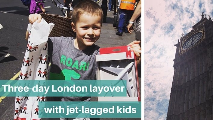Three-day London layover with jet-lagged kid