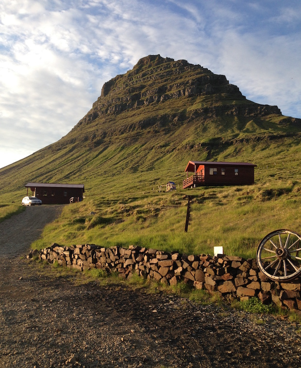 Home away from home - cottage at Kirkjufell in western Iceland