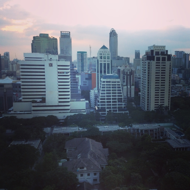 Things I didn't expect in Bangkok - green view from my hotel room