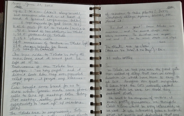 Travel Journal from Tami of Postcards and Passports