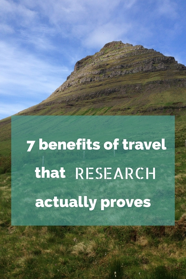benefits of travel Some interesting info popped up on twitter today about travelling it was titled ' the benefits of travelling' and was a lovely infographic about this crazy.