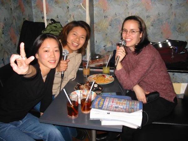 Karaoke with friends in Japan