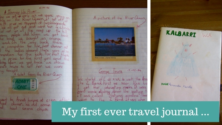 My first travel journal entries – a trip to Kalbarri, aged 8