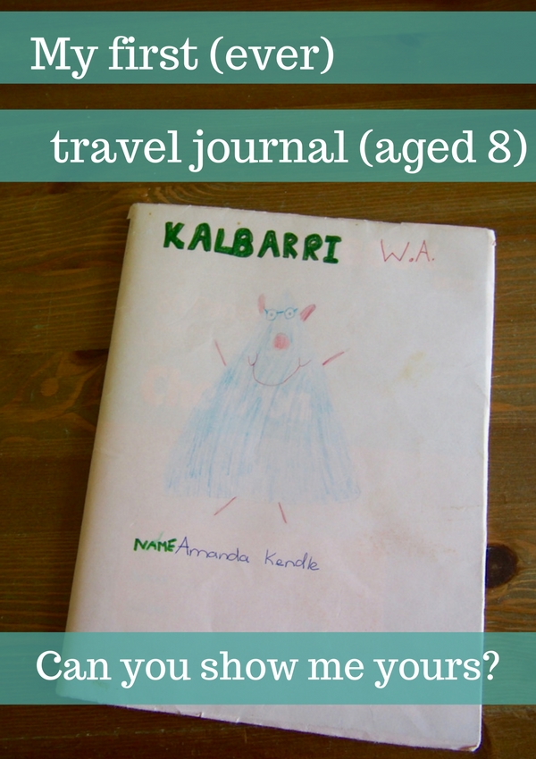 My first travel journal aged 8