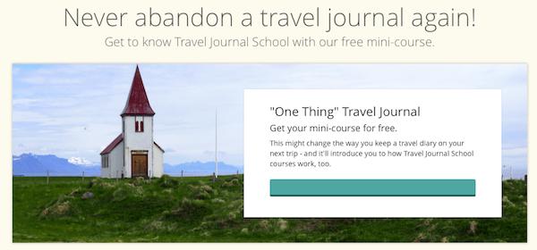 Travel Journal School free mini-course