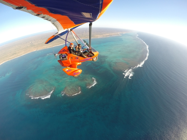 Coral Coast expands comfort zone - microlight flight