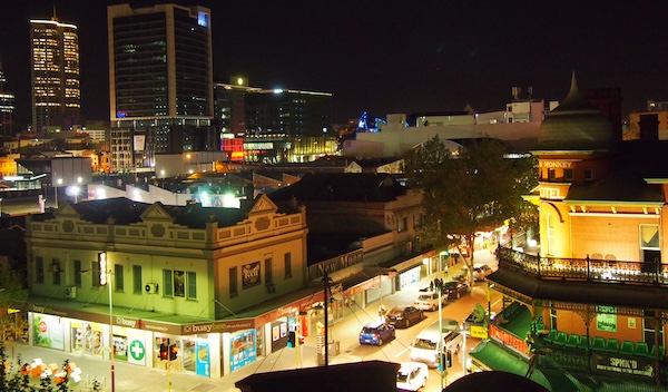 View over Northbridge and Perth from the Alex Hotel, Perth, Western Australia