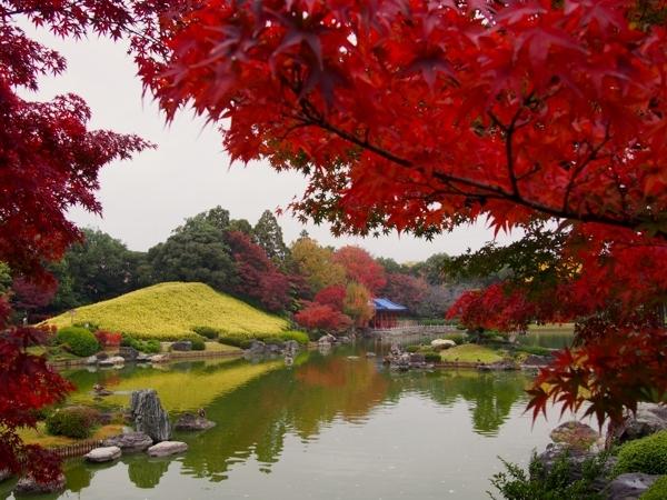 Japanese Garden in Daisen Park, Sakai City