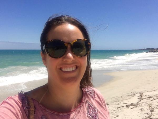 Sunglasses on a Perth beach