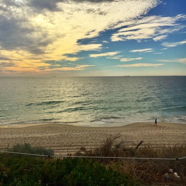 Sunset near City Beach in Perth Western Australia