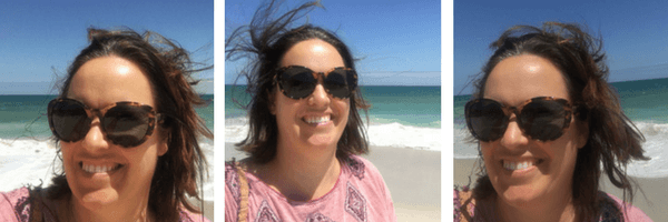 Windy Perth beaches with Ralph sunglasses