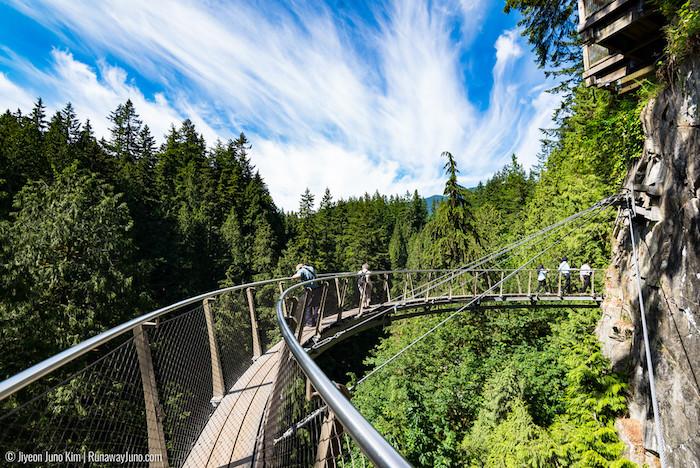Capilano Suspension Bridge near Vancouver, Canada