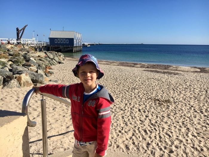 Travel with kids - Busselton Jetty with a seven-year-old