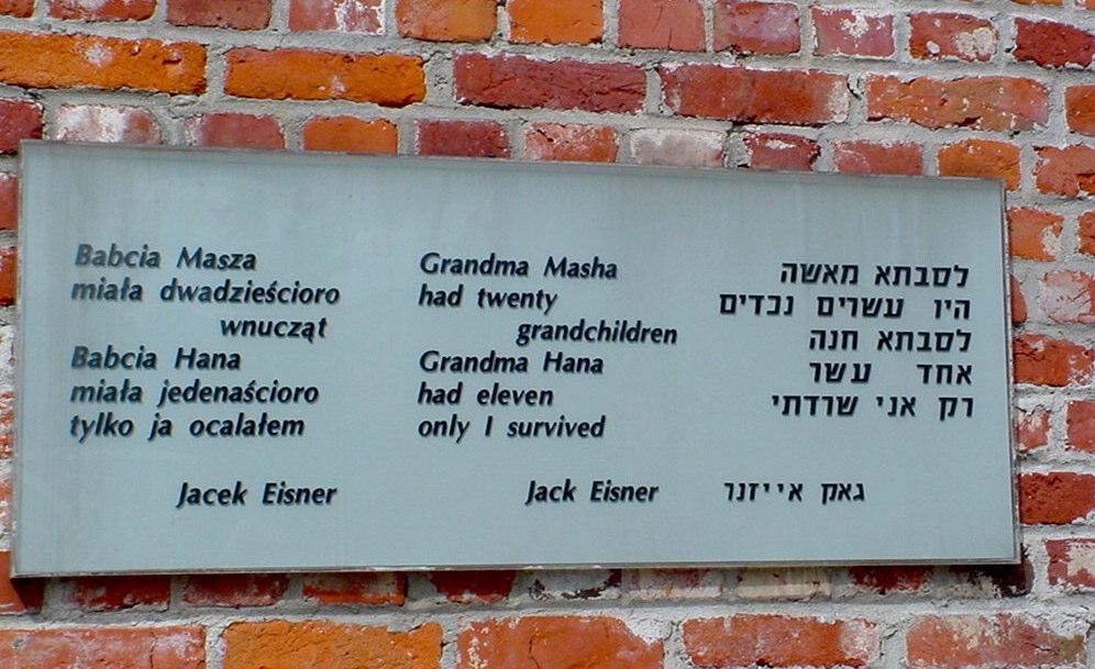 Warsaw at Jewish Cemetery - Jack Eisner poem