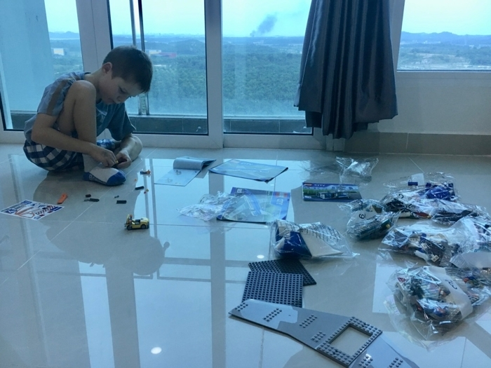 Legoland Malaysia Airbnb Building Lego in Living Room