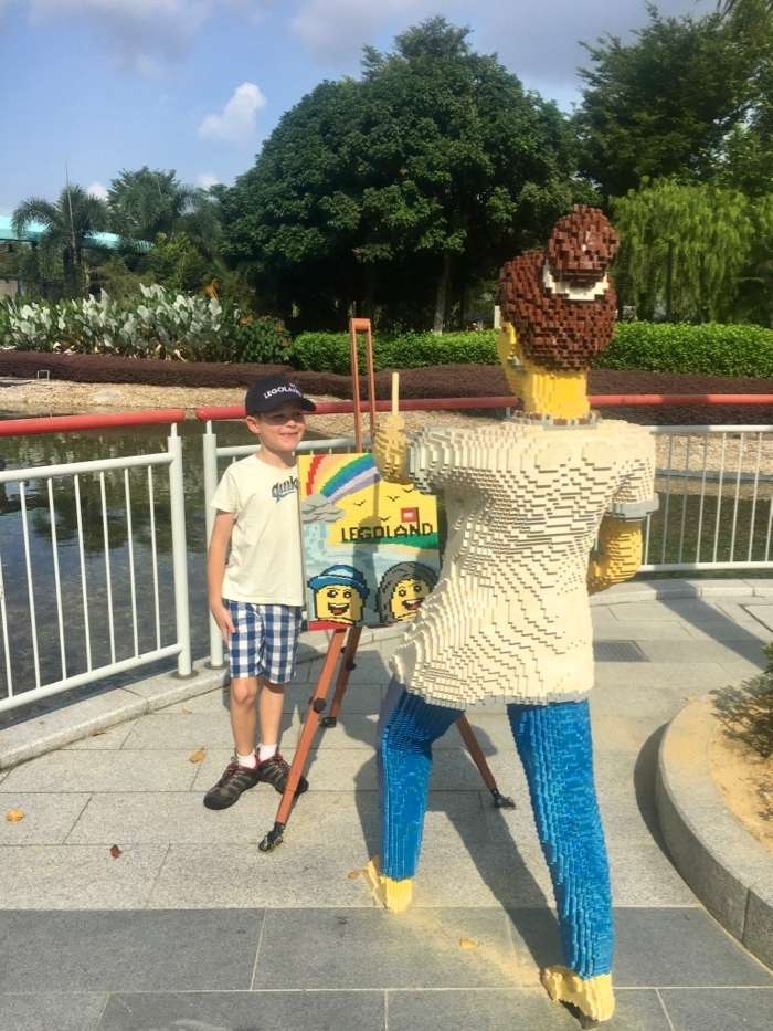 Legoland Malaysia artist painting picture made of Lego