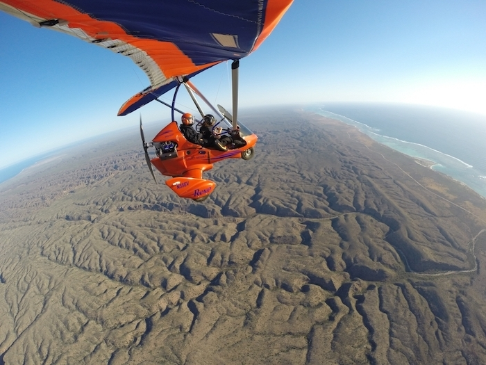Exploring Western Australia in a microlight above the Coral Coast