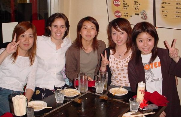 Life as an ESL teacher - Okonomiyaki with students in Japan