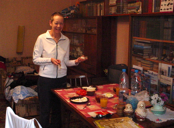 Breakfast at Homestay in Moscow Russia