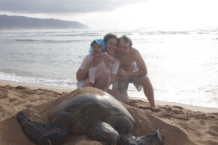 Jessica from Magnets of Everywhere with her family travelling in Hawaii